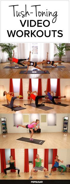 Work That Tush! Workout Videos Devoted to Your Derriere - Whether you want to tone your backside to run faster or look hotter in your skinny jeans, click on the videos below, and you're sure to feel the butt burn by the end of each 10-minute workout.