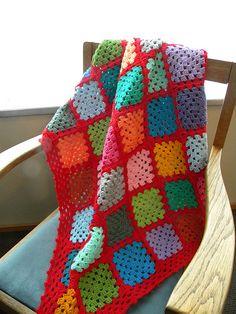 #crochet, Granny square afghan