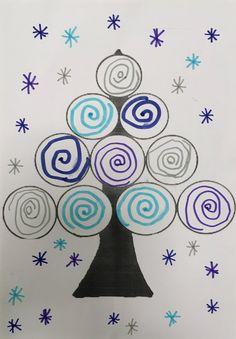Estas dos últimas semanas del primer trimestre les he presentado en este TALLER DE GRAFISMO tres árboles de navidad realizados con dife. Drawing For Kids, Art For Kids, Crafts For Kids, Arts And Crafts, Kindergarten Crafts, Preschool Crafts, Infant Activities, Craft Activities, Fall Crafts