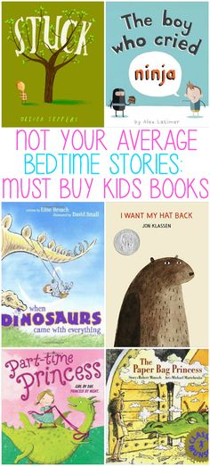 Not Your Average Bedtime Stories:  Must Buy Children's Books. A list of books that you will want to read to your kids over and over, great for kids, but also entertaining for adults!