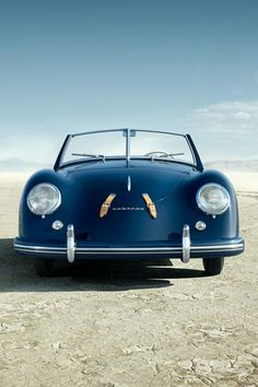 Porsche 356 Speedster, Monaco Blue (made 1948 to 1965)