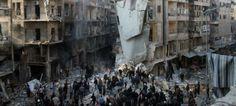 Ola de ataques en la ciudad siria de Alepo