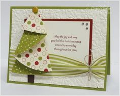 Cute Card  With tutorial on how to fold that tree by rosalyn
