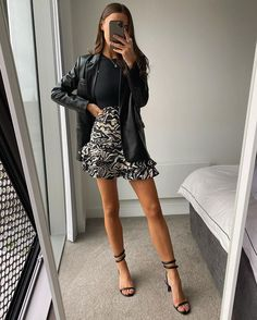"""What Em Wore 🕊 у апликацији Instagram: """"Could be my birthday outfit 🤫🖤"""" Night Outfits, Mode Outfits, Classy Outfits, Stylish Outfits, Spring Outfits, Fashion Outfits, Womens Fashion, Look Fashion, Daily Fashion"""