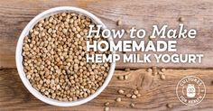 Learn to make thick and delicious hemp milk yogurt at home. This is a great alternative for vegans or those allergic to traditional forms of milk. Vegan Yogurt, Yogurt Recipes, Feta Cheese Nutrition, Diet And Nutrition, Baking Science, Dairy Free Treats, Hemp Milk