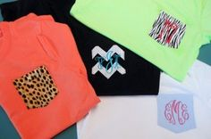 DIY - make a monogram pocket t shirt!