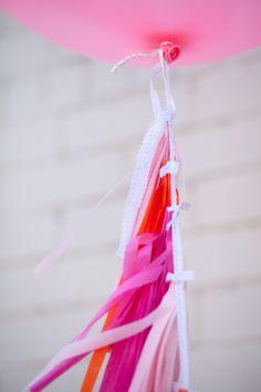 Hot Pink Balloon Tassel, via Etsy // Tuck Bonte Balloon Tassel, Tassel Garland, Tassels, Giant Balloons, Confetti Balloons, Ballons, Pink Love, Hot Pink, Barbie Theme