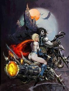 Lobo and Power Girl