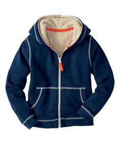 Loving this Navy Fleece-Lined Zip-Up Hoodie - Boys on #zulily! #zulilyfinds