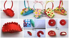 How to make basket of flowers