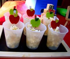 Sweet apple clothespins #backtoschool