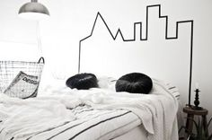 Skyline at the top of your bed