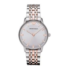 Emporio Armani Watch, Women's Two Tone Stainless Steel Bracelet Emporio Armani, Armani Grey, Armani Watches, Colorful Bracelets, Stainless Steel Bracelet, Bracelet Watch, White Gold, Michael Kors, Ebay