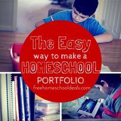 The Easy Way to Make a Homeschool Portfolio