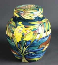 Sian Leeper for Moorcroft Pottery, a ginger jar and cover in River Otter pattern, numbered 39/150
