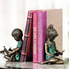 Boy and Girl Bookends - Want a nice classy way to keep your most prized books stable? Then this pair of bookends featuring a boy and a girl is the perfect solution.