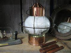 Vintage Ship's Lantern Onion Lantern Copper/Brass door neetiques