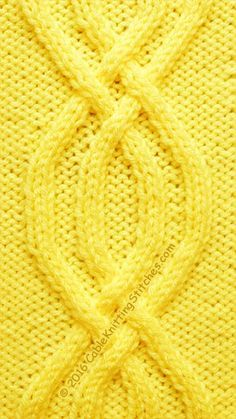 Double-Braided Cable knit stitch