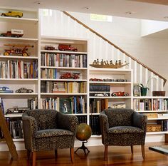 42 Ideas Basement Storage Under Stairs Built Ins Living Room Under Stairs, Space Under Stairs, Open Stairs, Living Rooms, Basement Storage, Stair Storage, Staircase Storage, Storage Shelving, Kitchen Storage