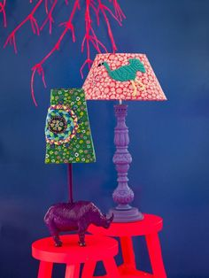 Lovely embroidered Lamps