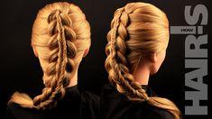 Делаем прическу «Коса в косе» своими силами - видеоурок (мастер-класс) H...