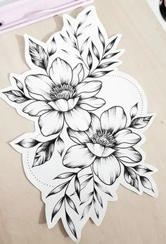25 Beautiful Flower Drawing Information & Ideas Lotusblume Tattoo, Piercing Tattoo, Leg Tattoos, Body Art Tattoos, Small Tattoos, Sleeve Tattoos, Piercings, Tatoos, Floral Tattoo Design