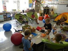 A bunch of different ideas for alternative classroom seating.
