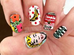 My nails this week! I've been eyeing these designs for a while because they were such a step up for me. I'm finding that I really enjoy a good nail art challenge!