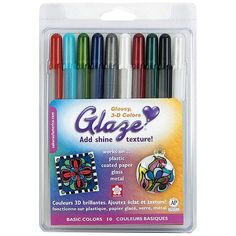 Blitsy: Sakura of America - Glaze Pens - Basic - 10 Pc Set - Glaze Pens - Paper - Save up to on craft supplies! Quilling Designs, Paper Quilling, Quilling Ideas, 3 D, Quilling Techniques, Art Techniques, Thing 1, Pen Sets, Texture