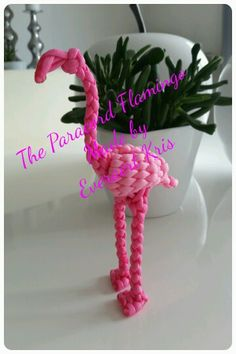 The Paracord Flamingo  Made by Everaert Kris  #paracord #everaert #kris #animal #flamingo