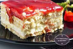 Greek Sweets, Greek Desserts, Cold Desserts, Greek Recipes, Desert Recipes, Sweets Recipes, Cooking Recipes, Low Calorie Cake, Custard Cake