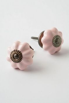 Ceramic Melon Knob: Pink!