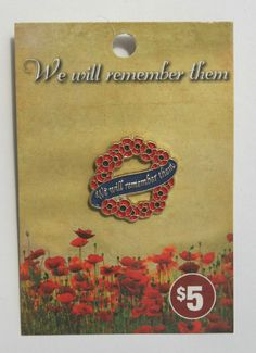 Remembrance Day, Lapel Pins, Poppies, Ebay, Anniversaries, Poppy, Poppy Flowers, Badges