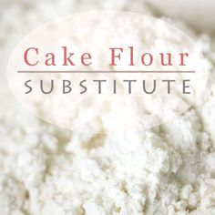 Don't you have cake flour? Don't worry. You can make it easily with all-purpose flour and corn starch at home in no time.
