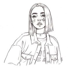 Art Sketches Girl 👨🎨👩🎨 DIY craft hobby ideas for beginners? Sketch & D Girl Drawing Sketches, Cool Art Drawings, Pencil Art Drawings, Sketch Art, Drawing With Pencil, Sketches Of Girls, Drawings Of Girls, Tumblr Sketches, Badass Drawings