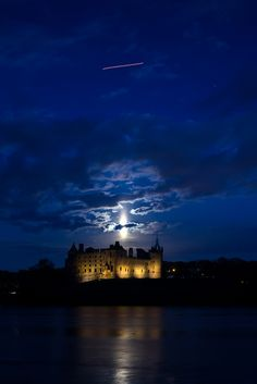 Supermoon over Linlithgow Palace, Scotland
