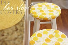 DIY bar stool covers -- for kitchen when I finally get stools???