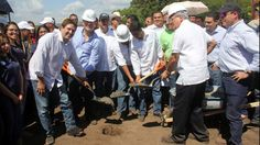 Presidente panameño inaugura fase de construccion de parque metropolitano en Chiriquí