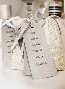 50 Shades of Grey Book Club. Silver wine bookmarks