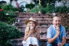 GARRETT, sibling photography, siblings, brother, sister, family, ice cream, summer days