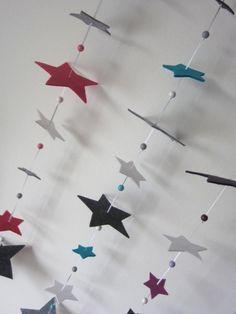 """""""Sternenzauber""""Girlande für´s Kinderzimmer von wunderwerkstatt-manufaktur auf DaWanda.com"""
