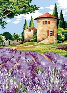 Лаванда Watercolor Projects, Watercolor Landscape Paintings, Watercolor Paintings, Landscape Walls, Mountain Landscape, Landscape Illustration, Beautiful Paintings, Painting Techniques, New Art