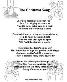 Christmas Carol Lyrics - THE CHRISTMAS SONG (CHESTNUTS