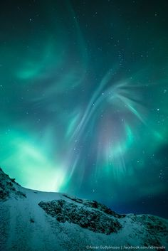 The Butterfly - Aurora Borealis - Iceland by Arnar Bergur