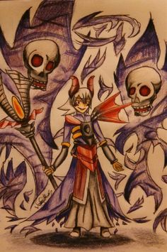 My drawing of Executioner Shida from the game Brave Frontier. ~T0xicN1ght