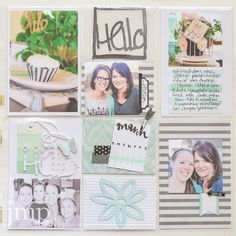 Sizzix eclips2 Inspiration | Hello Scrapbook Page by Jamie Pate