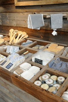 Barnwood store display..great for votives, tarts and small items