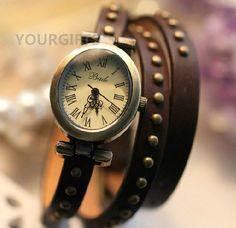 Leather Women Watch - Women's Leather Wrist Watch, Roman watches, W-27