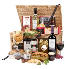 supply throughout the year. Incredible choice at great prices. Food Hampers, Gift Hampers, Hampers Online, Luxury Food, Fudge, Baking Recipes, Crisp, Basket, The Incredibles