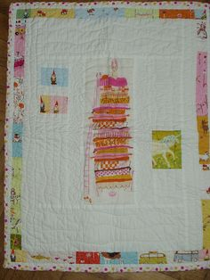 Heather Ross mini quilt from Kirsten! by daveandsusi, via Flickr